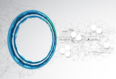 추상적 인 색 기술 배경  컴퓨터 기술 사업 배경입니다. 벡터 일러스트