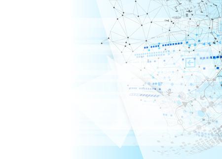 soyut: Arka plan teknolojisi iletişim kavramı. Vektör
