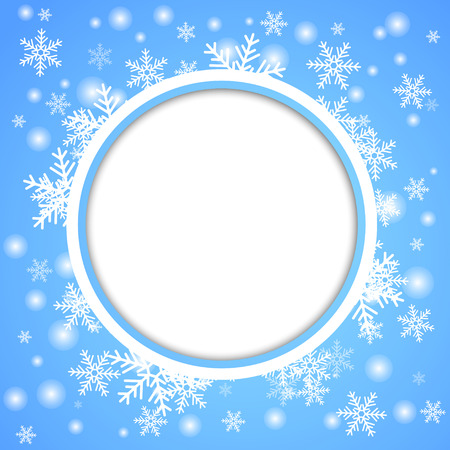frosty: Snow fall. Holiday winter theme background. Vector