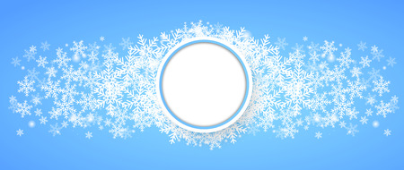 holiday background: Snow fall. Holiday winter theme background. Vector