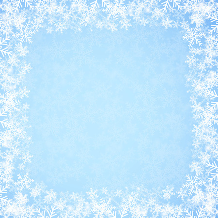christmas blue: Abstract blue Christmas background with snowflakes. Vector