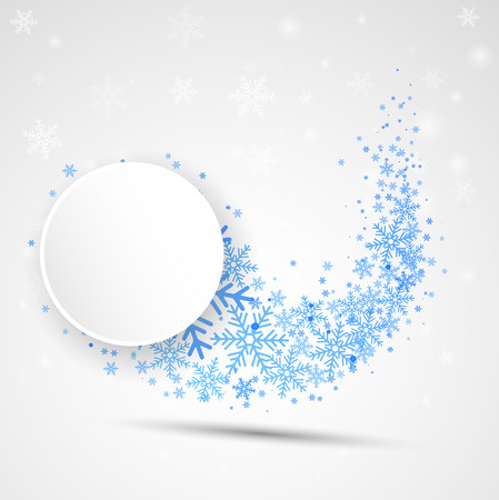 wave vector: Snow color abstract wave. Vector