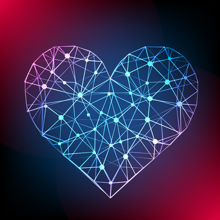 Abstract heart background. Vector