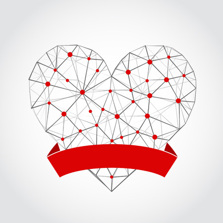heart abstract: Abstract heart isolated on a white background. Vector Illustration