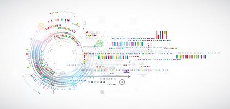 La tecnología de fondo abstracto con diversos elementos tecnológicos. Vector Foto de archivo - 44281875