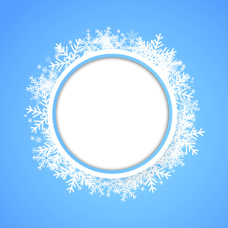 circle  pattern: Snow fall. Holiday winter theme background. Vector