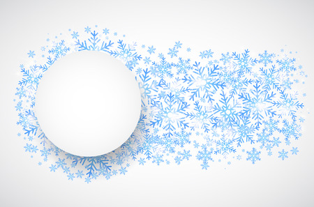 winter holiday: Snow fall. Holiday winter theme background. Vector