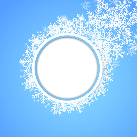 snow fall: Snow fall. Holiday winter theme background. Vector