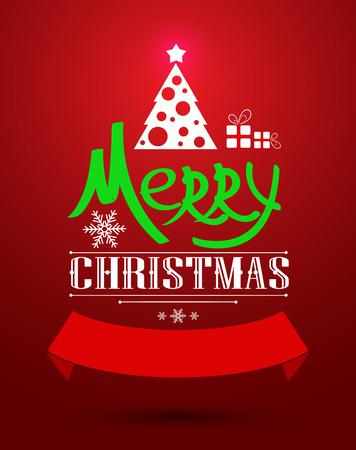 holiday greeting: Christmas greeting card. Holiday vector illustration