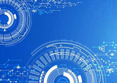 digital background: Abstract blue digital communication technology background
