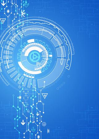 Azul de fondo la tecnología de comunicación digital abstracto