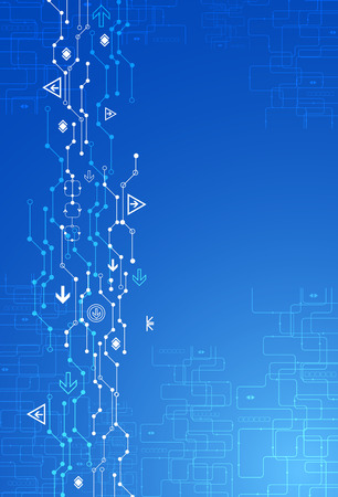 Abstract blue digital communication technology background