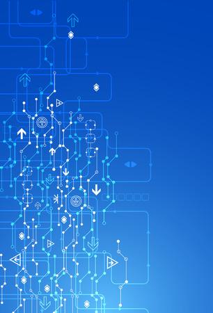 tecnologia comunicacion: Azul de fondo la tecnolog�a de comunicaci�n digital abstracto