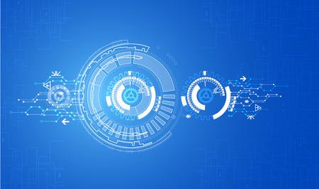 tecnología informatica: Azul de fondo la tecnología de comunicación digital abstracto