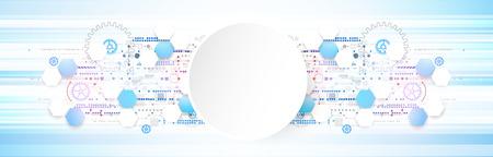 Resumen de color de la tecnología de la comunicación digital de fondo