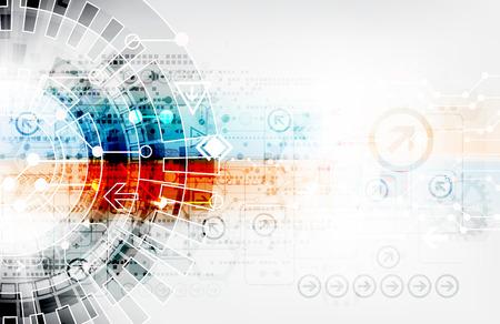 Résumé numérique fond de la technologie de communication Banque d'images - 44844538