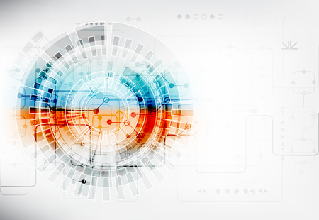 Abstract digital communication technology background Vettoriali
