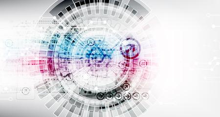 Résumé numérique fond de la technologie de communication Banque d'images - 44844563