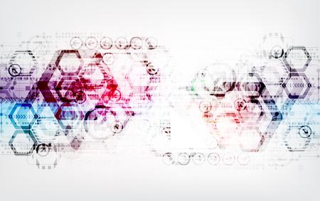 absztrakt: Absztrakt digitális kommunikációs technológiai háttér Illusztráció