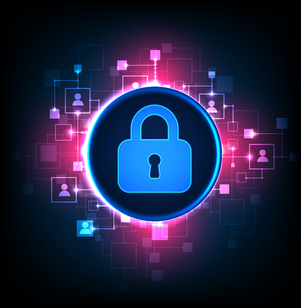 Digital protection and security.Protect system, privacy web information, vector illustration 일러스트