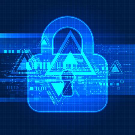 decoding: Digital background online protection. Vector