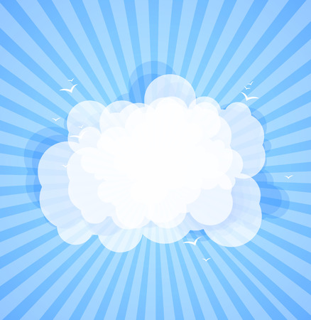 prognosis: Blue sky with clouds. Vector nature background.