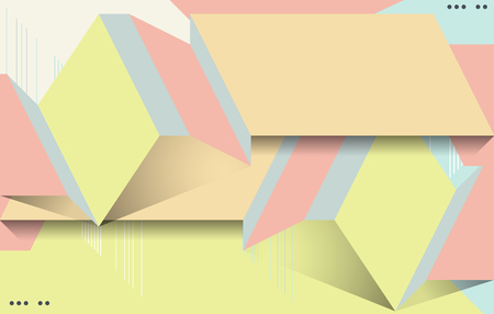advertising text: Abstract paper origami background. Stylish brochure for text and advertising.