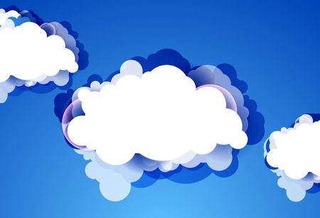 prognosis: Blue sky with clouds. Vector background.