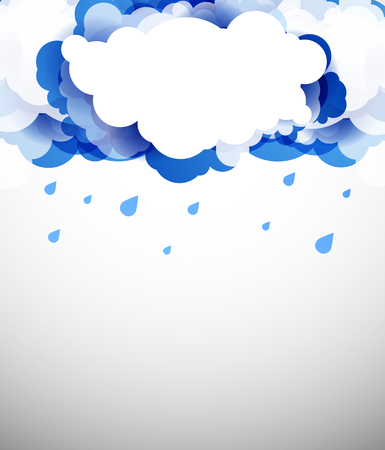 sky clouds: Blue sky with clouds. Vector background.