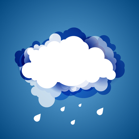 blue sky with clouds: Blue sky with clouds. Vector background.
