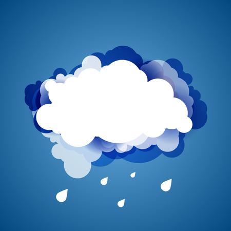 atmosfera: Cielo azul con nubes. Vector de fondo.