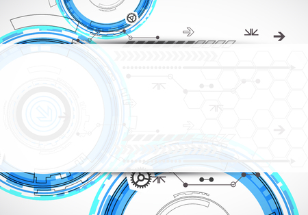 Abstract digital communication technology background. Vector illustration