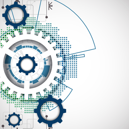 engineering: Abstract technology gears background.  Futuristic style. Vector illustration