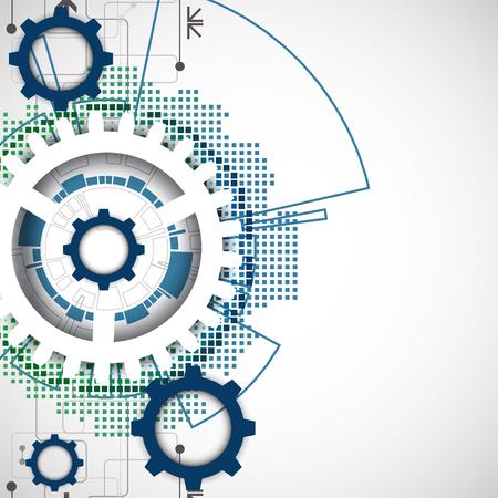 ingenieria industrial: Abstracto de la tecnología engrana el fondo. Estilo futurista. Ilustración vectorial
