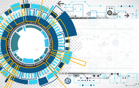 Abstract technological background with various technological elements. Structure pattern technology backdrop. Vector Illusztráció