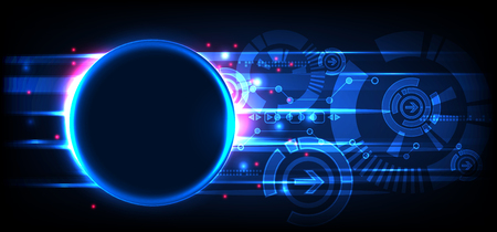 Abstract technology background. Futuristic style. Vector illustration Ilustracja