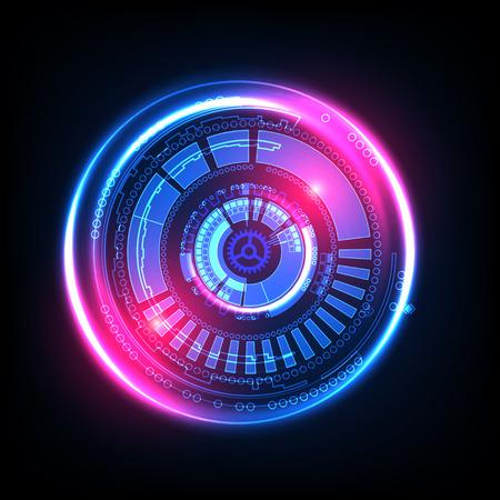 Abstract technology background. Futuristic style. Vector illustration Illustration