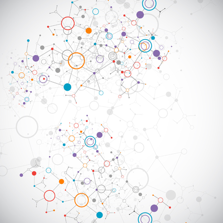 Abstract geometric vector background. Circle technology or science concept. Ilustração