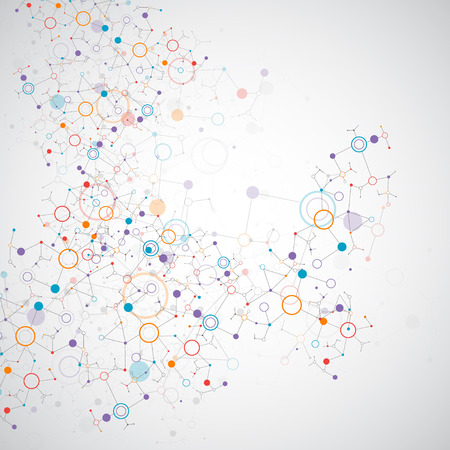 Abstract geometric vector background. Circle technology or science concept. Vettoriali