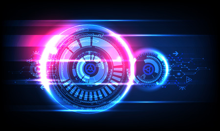 Abstract technology background. Futuristic style. Vector illustration Vectores
