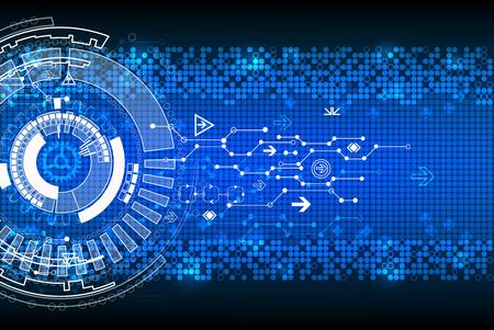 innovación: Fondo tecnológico abstracto. Vector Vectores