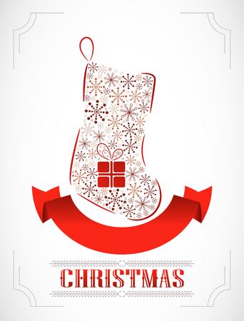 greeting christmas: Greeting christmas card. Vector illustration