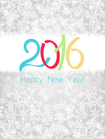 new years resolution: Happy new year 2016. Vector illustration
