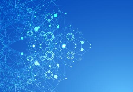 circulo de personas: Fondo abstracto de la tecnología. Vector Vectores
