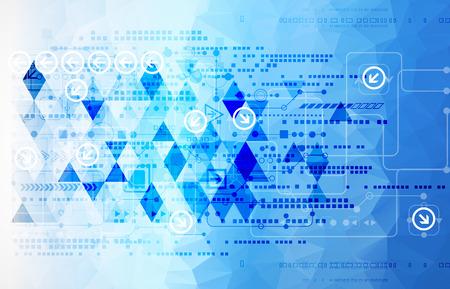 digital background: Colorful technology background. Digital geometric space, vector illustration