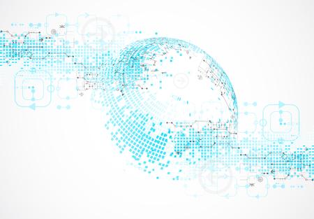 negocio fondo azul abstracto de la tecnología. ilustración vectorial