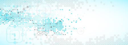 Streszczenie niebieskim tle technologii biznesowych. ilustracji wektorowych Ilustracje wektorowe