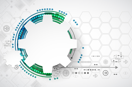 cogwheels: Abstract technology background. Cogwheels theme. Vector illustration Illustration