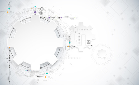 abstract illustration: Abstract technology background. Cogwheels theme. Vector illustration Illustration