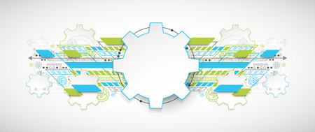abstract business: Abstract technology background. Cogwheels theme. Vector illustration Illustration